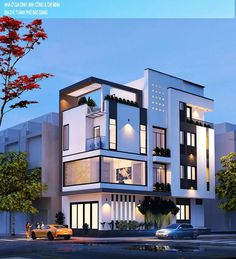 Modern house- 5 Bedrooms w/ upper viewing roofdeck. Modern Architecture House, Residential Architecture, Amazing Architecture, Architecture Design, Bungalow House Design, House Front Design, Modern House Design, Modern Mansion, Street House
