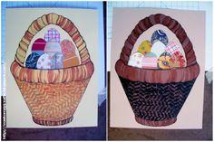 Easter Egg Crafts: Craft Basket Weave Rubbings for Easter Egg Pictures
