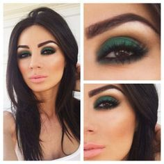 Image result for dark green eyeshadow
