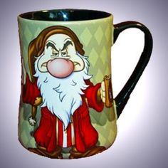 Disney's Grumpy-I-Hate-mornings-Collection-Ceramic-Coffee-Mug-Theme-Parks-Exclusive