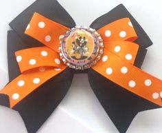 Mickey Mouse Orange and Black Polka Dot Halloween by bowsforme, $6.99
