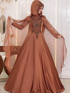 2018 Tesettür Elbise Modelleri - #2018TesettürElbiseModelleri #pınarsems #tesettürabiyeelbisemodelleri #tesettürabiyemodelleri Satin Dresses, Formal Dresses, Wedding Dresses, Black Abaya, Hijab Bride, Bridal Makeup Looks, Hijab Dress, Abaya Fashion, The Dress