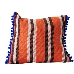 Cushion jerga : Cojín Jerga pompon naranja