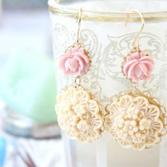 Mabel Floral Earrings by NestPrettyThingsShop on Etsy, $24.00