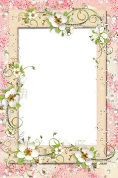 Transparent PNG Frame with Flowers - Printables