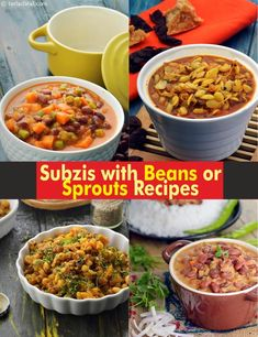 Subzis with Beans or Subzi with Sprouts Recipes, Tarladalal.com | Page 1 of 6