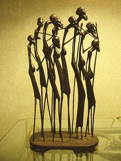 Mom's African people sculpture   My mother traveled the worl…   Flickr