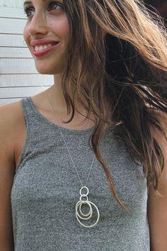 karma circle necklace sterling silver circle by Ofralerner on Etsy