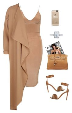 """In the nude"" by sistagirll on Polyvore featuring Club L, Boohoo, Erika Cavallini Semi-Couture, Hermès, Tacori and Casetify"