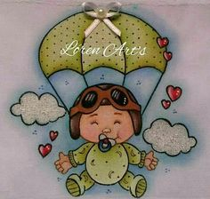 Bebê de paraquedas