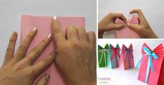 Kreatívny DIY nápad a návod urob si sám, ako vyrobiť originálne balíčky na darčeky z obyčajného farebného papiera a stuhy. Vianoce, darček, narodeniny