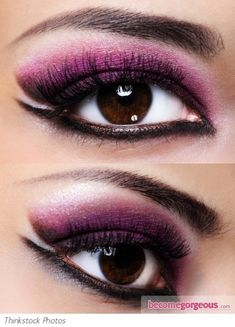 Purple and Black Eye Makeup Look,