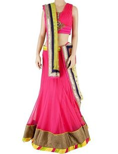 Magenta coloured lehenga choli gives a look that you want in weddings. Product code - G3-WLC1069 Price - INR 10850/-