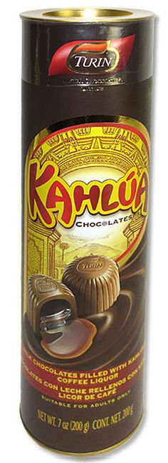 Delicious Turin chocolate filled with coffee liquer flavored Kahlua. This product does not contain alcohol. - Chocolatiers Since 1928, Chocolates Turin Has Been Producing World Class Premium Chocolate
