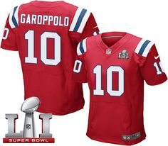 ... 10 Jimmy Garoppolo Limited Red Alternate NFL Jersey 87Rob Gronkowski New  England Patriots Nike Player Name Number Tank Top - Navy Pinterest England  ... 10b295958