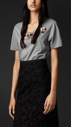 Burberry Gem Embroidered T-shirt