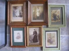 Antique Early 1900 Lot 6 PC Framed New Orleans Portrait Photos Photographs