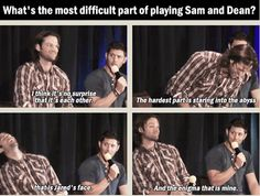 [SET OF GIFS] Jensen and Jared Dallas convention panel
