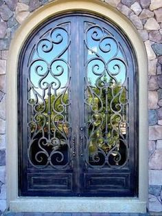 Wrought Iron Front Entry Door