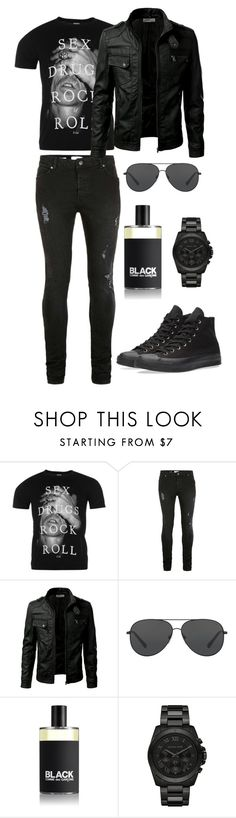 """""""Rock 'n' Roll"""" by bree-hemmings ❤ liked on Polyvore featuring Topman, Michael Kors, Comme des Garçons, Converse, men's fashion and menswear"""