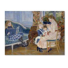 Renoir 'Childrens Afternoon At Wargemont' Canvas Art