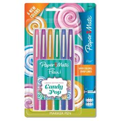 Paper Mate Flair® Pens, 6ct - Candy Pop : Target