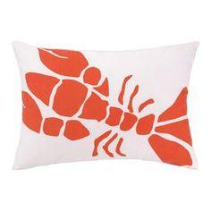 Lobster Indoor/Outdoor Lumbar Pillow