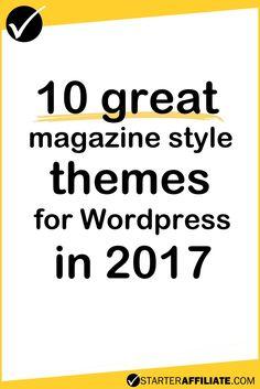 10 Premium Magazine Themes for Wordpress