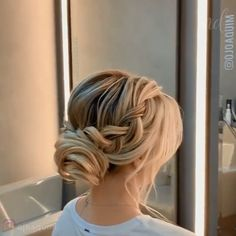 Step-by-step elegant updo By: Easy Hairstyles For Long Hair, Braids For Long Hair, Pretty Hairstyles, Braided Hairstyles, Wedding Hairstyles, Female Hairstyles, Hairstyle Men, Style Hairstyle, Hairstyles 2018