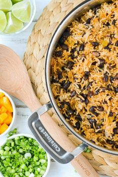 A delicious and easy to put together Cuban-style black beans and rice. A one pot meal that is vegan and gluten-free.