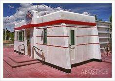Valentine Diner - circa 1940's - now recommissioned as a mini-police substation in Albuquerque's Nob Hill Neighborhood.