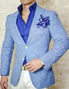 Check out our New Blu Lino Tweed sport jacket! Order yours today! #sebastiancruzcouture