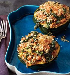 Acorn Squash With Kale and Sausage: Recipes: Self.com