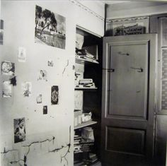 Anne Frank's closet in her bedroom in the Secret Annex