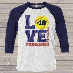 softball shirt, custom softball mom raglan shirt