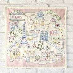 パリ20区のステッチクロス
