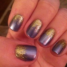 You can never have too many purple & gold nail ideas!