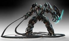 Sci-Fi Art: Robot Design by Josh Nizzi – Digital Art Concept Art World, Robot Concept Art, Armor Concept, Concept Ships, Gundam, Robot Wallpaper, Military Robot, Character Design Cartoon, 3d Character