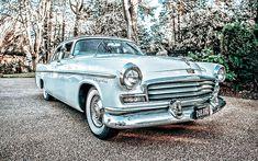 Chrysler Windsor, retro cars, 1956 cars, R, american cars, 1956 Chrysler Windsor, HD wallpaper