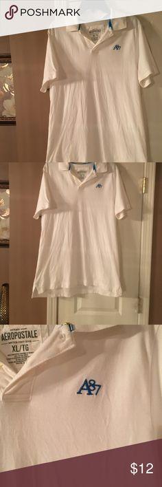 Aeropostale xl men's polo  shirt  in white Aeropostale xl men's polo  shirt  in white in good condition Aeropostale Shirts Polos