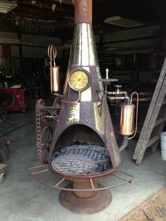 Start of a new project (patio fireplace) with Steampunk look
