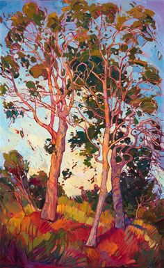 Modern impressionism oil painting by modern landscape painter Erin Hanson