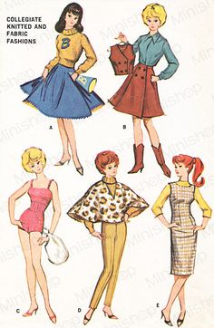 Barbie doll Sewing Pattern: 7311 by eminishop on Etsy