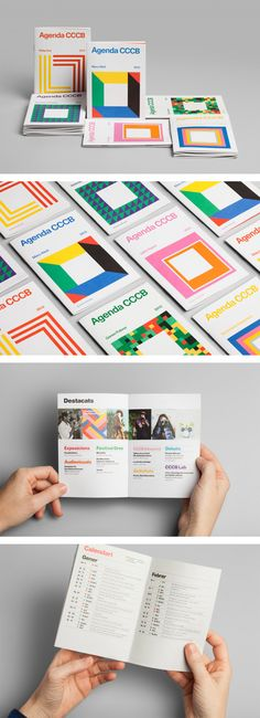 Cool Brand Identity Design. Agenda CCCB. #branding #brandidentity… Brochure Indesign, Template Brochure, Design Brochure, Editorial Design Layouts, Web Design, Layout Design, Print Design, Design Graphique, Art Graphique