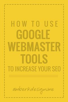 Increasing our SEO is always a priority. One of the most useful tools is google webmaster tools and here's how to use it appropriately!