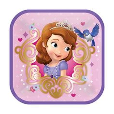 Amscan Disney Sofia the First Snack Lunch Plates Princess Party - 8 Pack