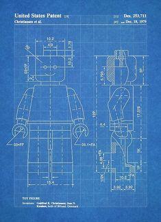 'LEGO Minifigure US Patent Art Mini Figure blueprint' Poster by Stephen Chambers / The Pop Art Factory Lego Wallpaper, Patent Drawing, Us Patent, Pause, 3d Max, Poster Prints, Art Posters, Pop Art, Lego Minifigure