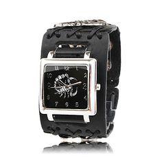 Мужские кварцевые часы с кожаным ремешком – RUB p. 263,69