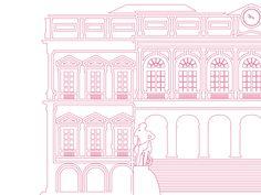La ville de Saint-Étienne se veut novatrice et prône le design jusque dans le cadeau remis aux mariés, exit le stylo ! Un ouvrage illustré sera remis aux mariés lors de leur passage en mairie. Monuments, Branding, Illustrations, Taj Mahal, Travel, Design, City Office, Gift, Brand Management