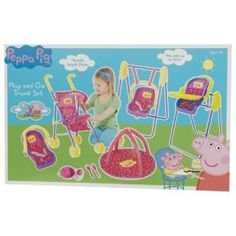 Buy Peppa Pig Play and Go Travel Set from our Dolls Prams & Pushchairs range - Tesco.com £26.00